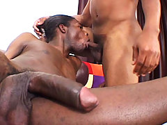 Hot sex & two black cocks enjoying to be sucked in here