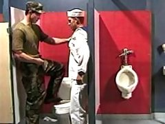 Navy boy sucks in toilet