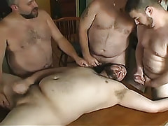 Large gays jizz by turns on face