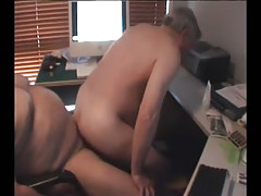 Old man jumps on hard cock