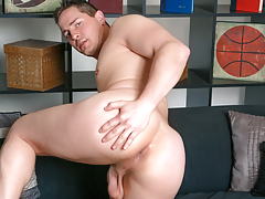 "After a porn hiatus, Brad returns to stroking his 9.5"" cock"